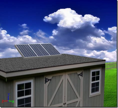 Shed Solar Panels by Exles Symscape