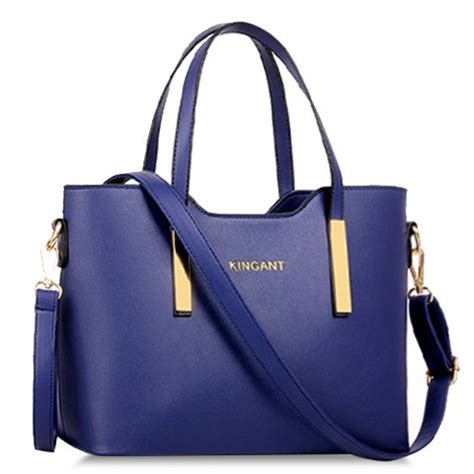 stunning women s tote bag with metallic and solid color