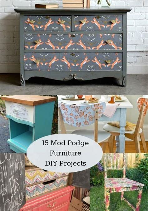 Decoupage Fabric On Wood Furniture - 15 unique decoupage furniture projects awesome