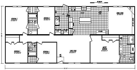 5 Bedroom 3 Bath Mobile Home Floor Plans by Mobile Home Floor Plans 5 Bedroom 3 Bathrooms Widehome