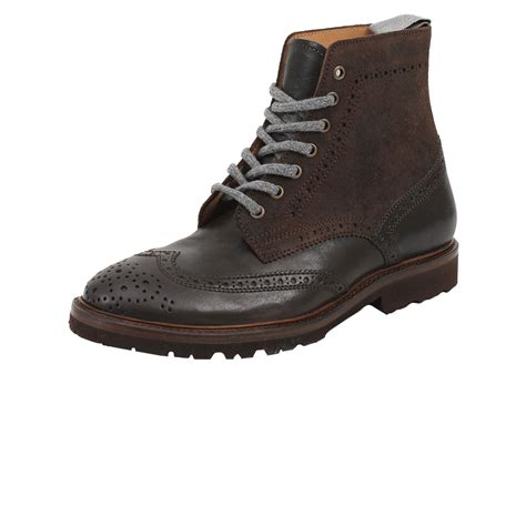 mens wingtip boots sale brunello cucinelli mens wingtip ankle boot in brown for