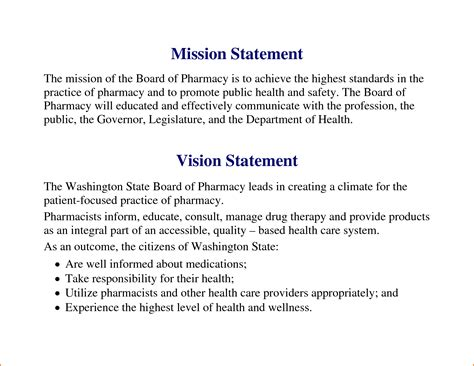 personal vision statement template 8 personal vision statement exles writable calendar