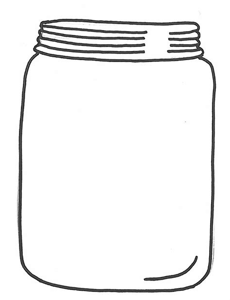 jar template printable jar outline clipart best