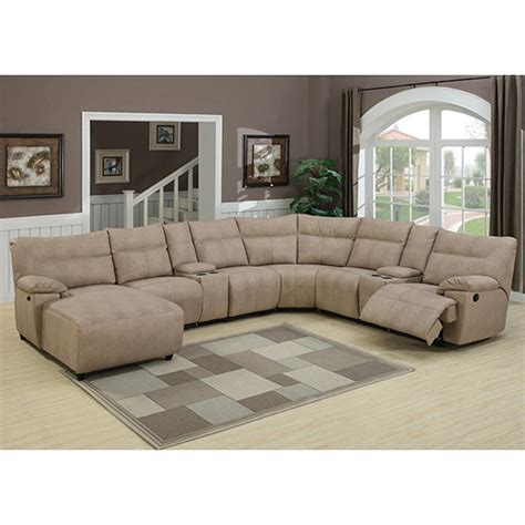 8 piece sectional samuel 8 piece reclining stone sectional set 13998799