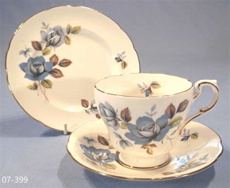 paragon blue mist vintage bone china trio sold collectable china