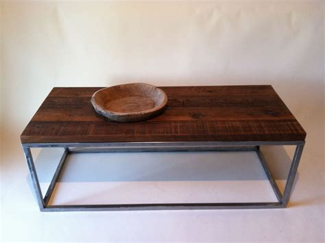 Handmade Wooden Coffee Table - exquisite handmade brown polished rectangle reclaimed wood