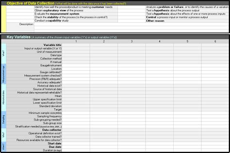 data collection templates data collection templates continuous improvement toolkit