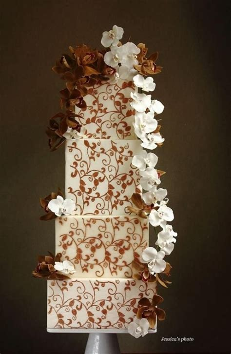 Chocolate Orchid Wedding Heels 17 best images about cakes fall autumn on