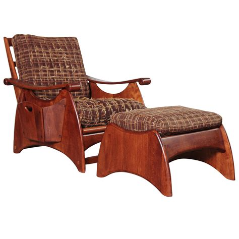 Reclining Chair And Ottoman by Gilbert Rohde Deco Wakefield Reclining Chair And