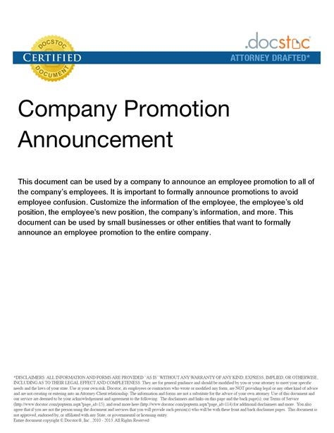 photo staff promotion announcement template images job