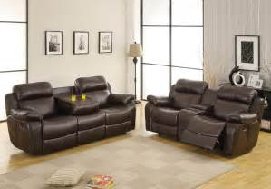 homelegance marille 2 piece reclining living room set in brown leather beyond stores