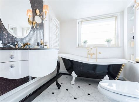 Art Deco Drama in the Bathroom   Kitchen Bath Trends   Art Deco Drama   Kitchen & Bath