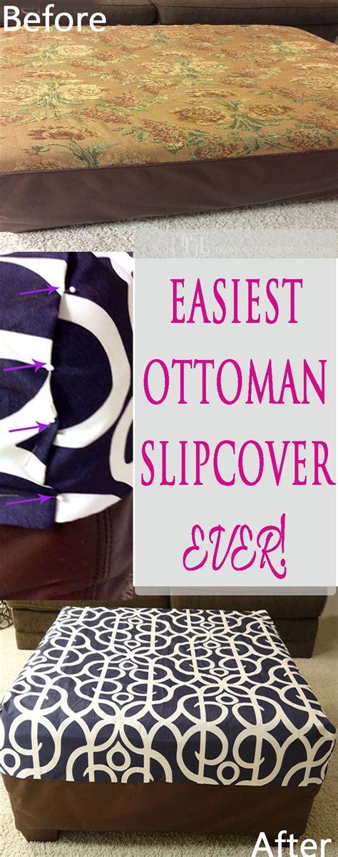 ottoman cover diy best 25 ottoman slipcover ideas on pinterest slipcovers