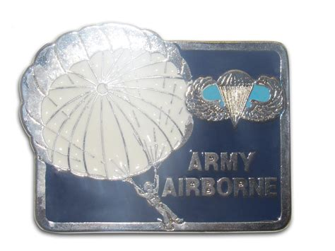 Quot Army Airborne Quot Heavy Cast Epoxy Inlay Buckle Eb2252