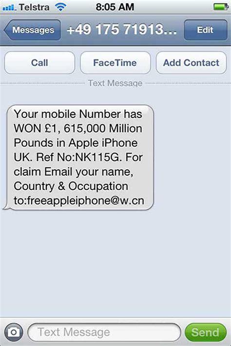 phone text message lottery scams hoax slayer