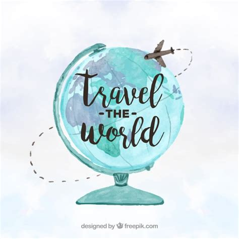 Around The World For Free travel around the world concept vector free