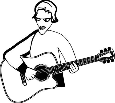 coloring page playing guitar play guitar hi playing the guitar coloring page