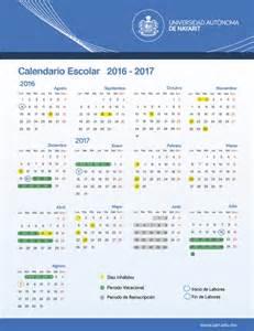 Calendario 2018 A Udg Calendario Escolar Para El Ciclo 2016 2017 Uan