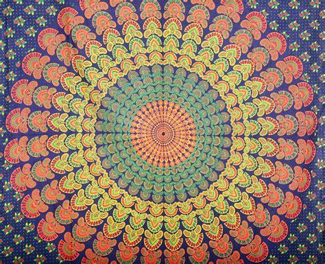 Bedroom Color Idea indian peacock mandala boho bohemian hippie 100 cotton