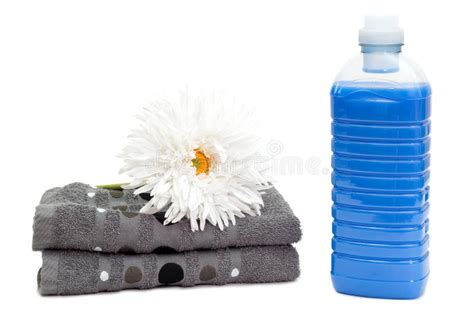 Bibit Parfum Laundry New Towel laundry detergent with towels and flower stock photo image of fabric clothes 53669406