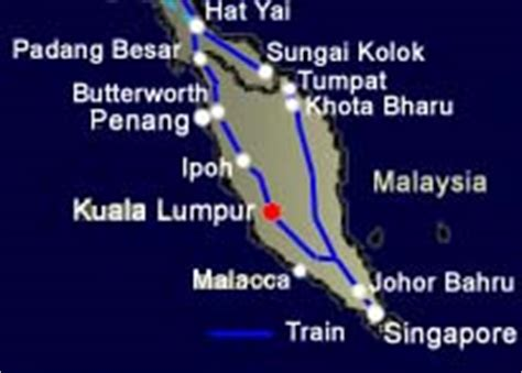 Ktm Intercity Route Ktm Routes Malaysia Travel Guide