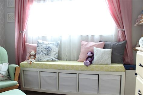 my ikea hack window seat for our sunroom akurum cabinets mommy vignettes ikea no sew window bench tutorial