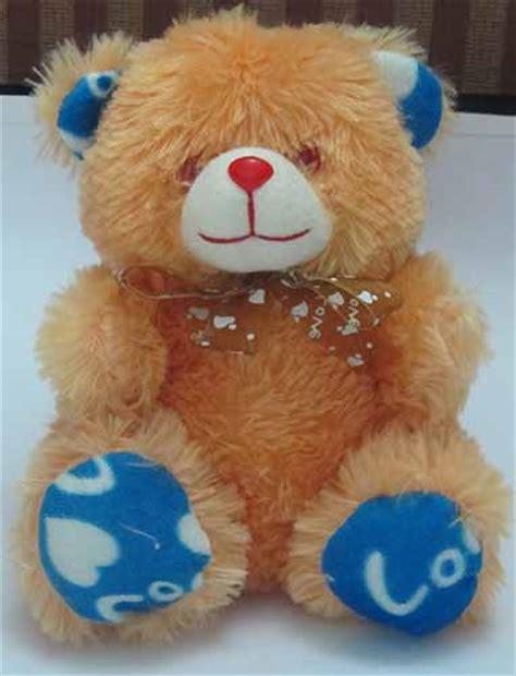 209 2in1 Teddy Black N Pink i you singing teddy gift item soft blinking