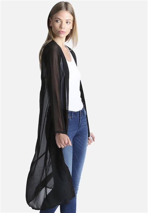 Sheer Jacket sheer jacket black noisy may kimonos superbalist