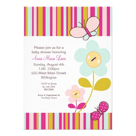 Imagenes Mariposas Para Baby Shower Niña | invitaci 243 nes para baby shower flores imagui