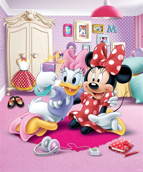 minnie mouse wall mural murals for