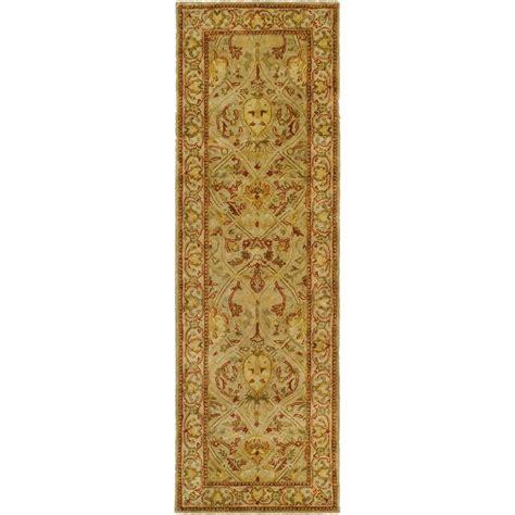 16 foot runner rug safavieh legend moss beige 2 ft 6 in x 16 ft runner pl819g 216 the home depot