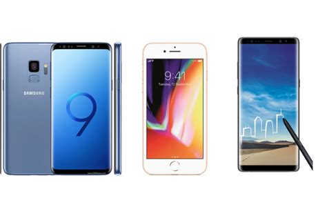 samsung galaxy s9 vs iphone 8 vs samsung galaxy note 8