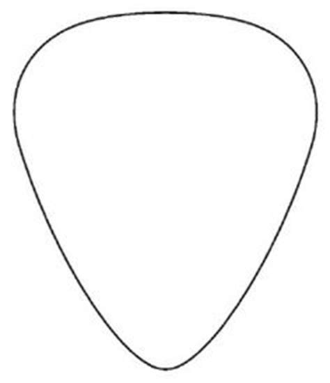 guitar pick template actual size kids pinterest