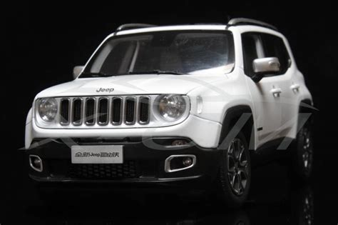 small jeep white car model all new jeep renegade limited 1 18 white