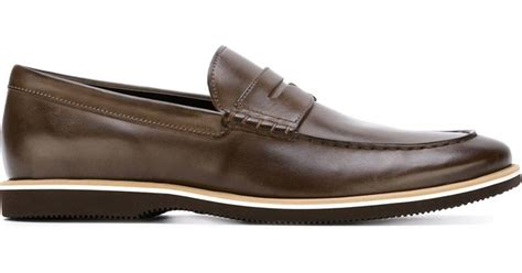 rubber sole loafers rubber sole loafers in brown for lyst