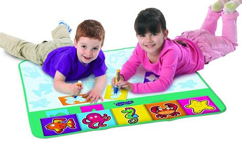 how to use aquadoodle children aquadoodle rainbow mat whiteboard pen stencil n