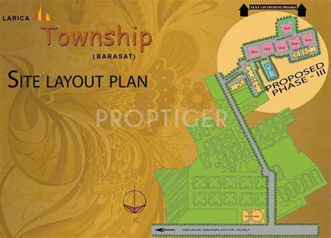 layout plan of township larica larica township in barasat kolkata price