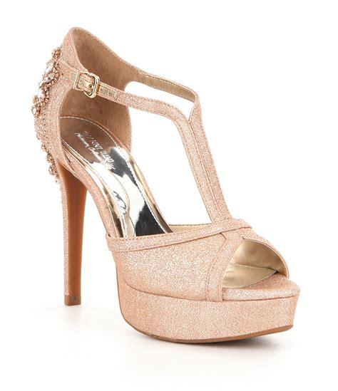 Wedges Emboss Glitter Flare Dress gianni bini laurito glitter ornament platform dress sandals dillards