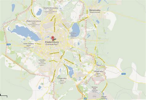 yekaterinburg map yekaterinburg map and yekaterinburg satellite image