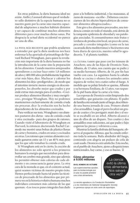 Bedak Ultima Ll la evoluci 243 n de la dieta nat geosep2014
