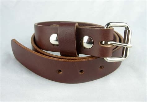 Handcrafted Leather Belts - 1 1 4 quot heavy duty leather work belt amish handmade belts