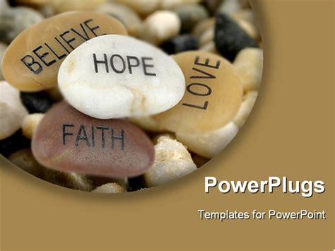 inspirational powerpoint templates pile of stones carved with inspirational words powerpoint