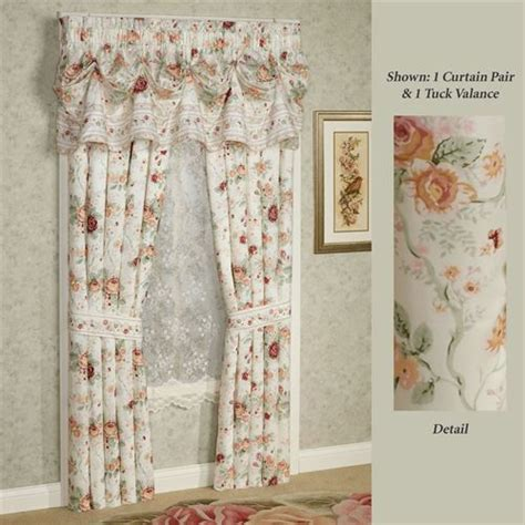 english floral curtains english rose floral window treatment