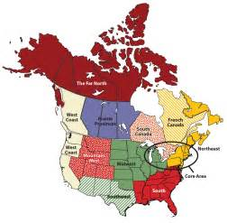 4 5 regions of the united states and canada world
