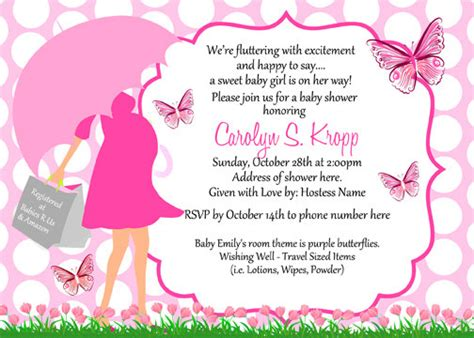 butterfly baby shower umbrella invitations by digitalparties