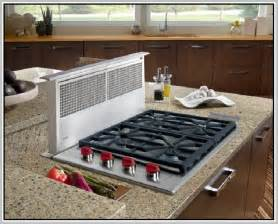 gas cooktop with downdraft home design ideas