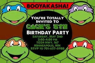 teenage mutant ninja turtles birthday invitations template