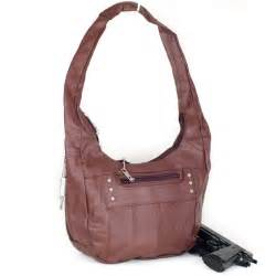 Cowhide Leather Bags Concealed Carry Handbag Large Locking Gun Compartment