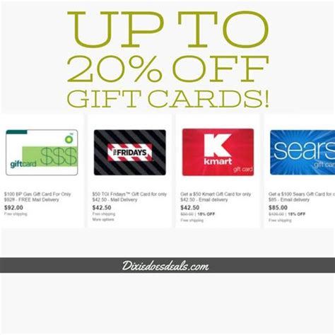 Sears Discount Gift Card - 100 sears gift card only 85 more gift card deals
