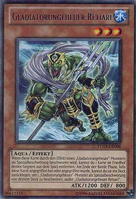 yugioh turnier deck gladiatorungeheuer retiari turbo pack booster three